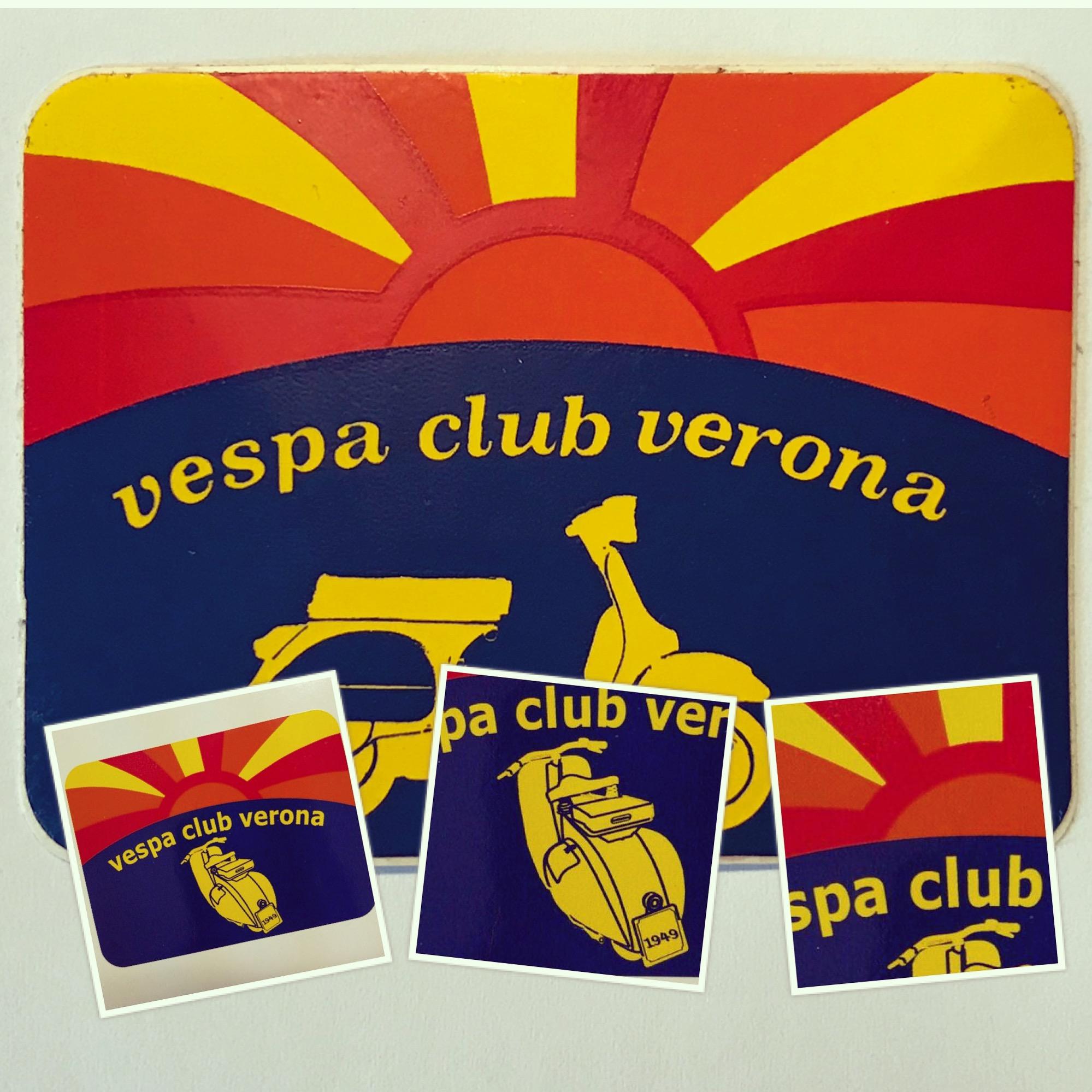 L'adesivo del Verona - Vespa Club Verona